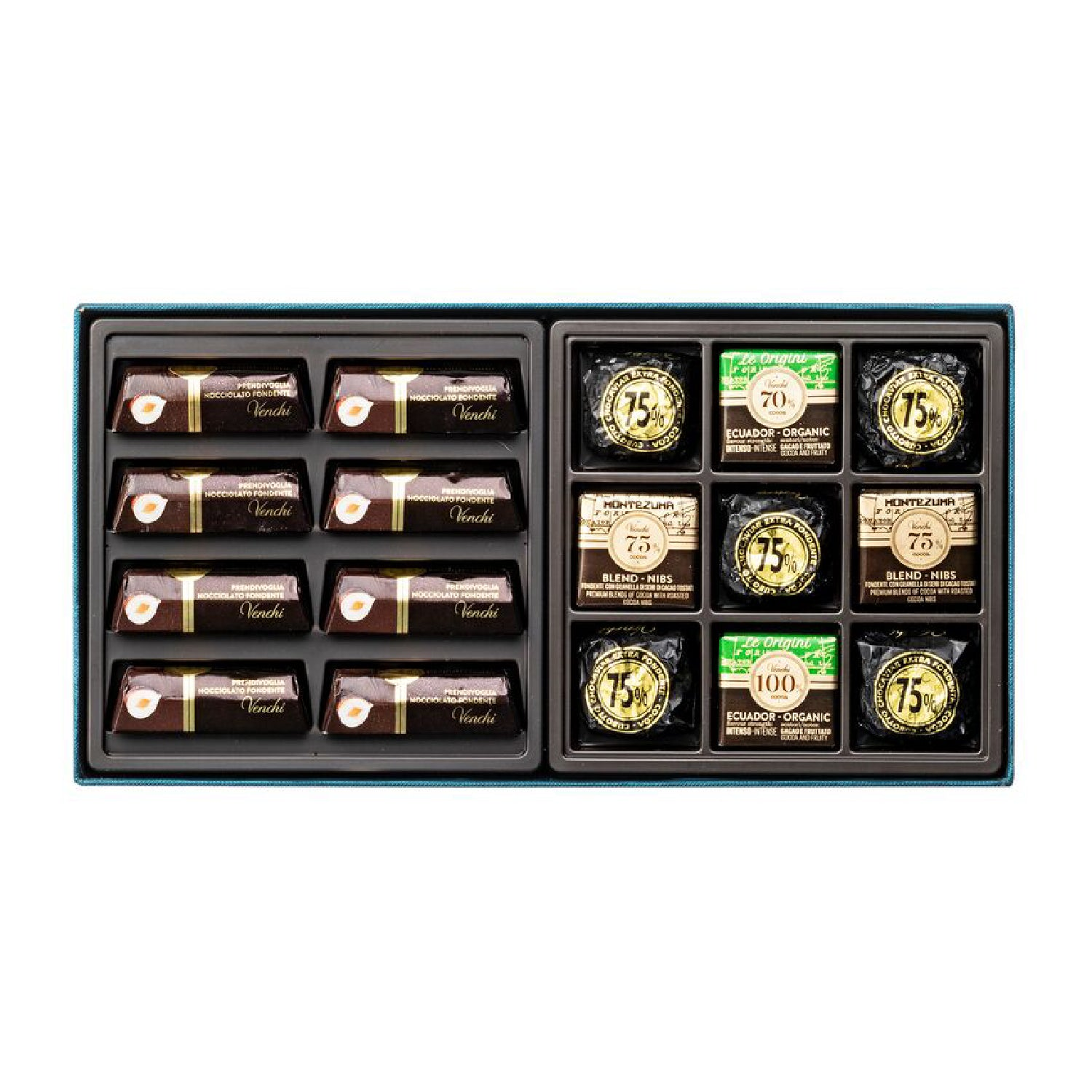 Assorted Dark Chocolates Petrol Blue Box 300g