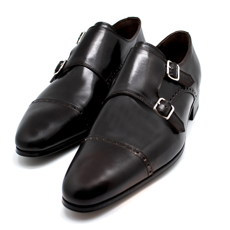 Artioli Double Strap Monk Shoes