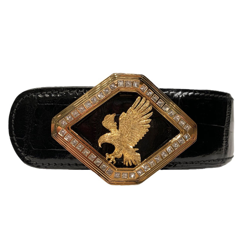 18K Gold Diamond Belt