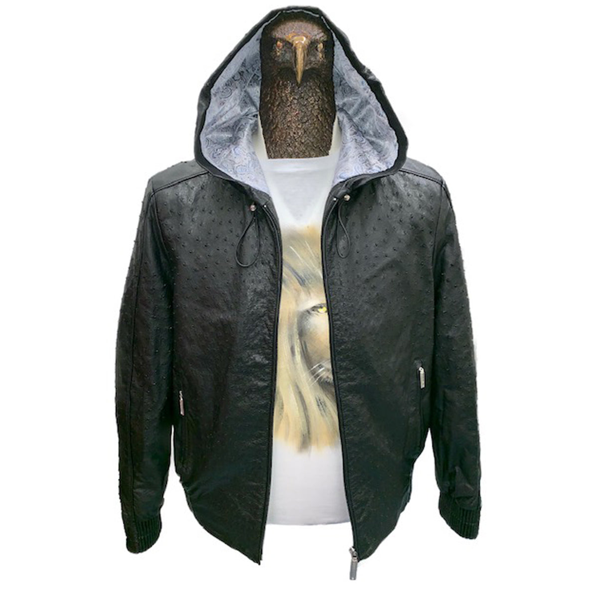 Ostrich Leather Jacket