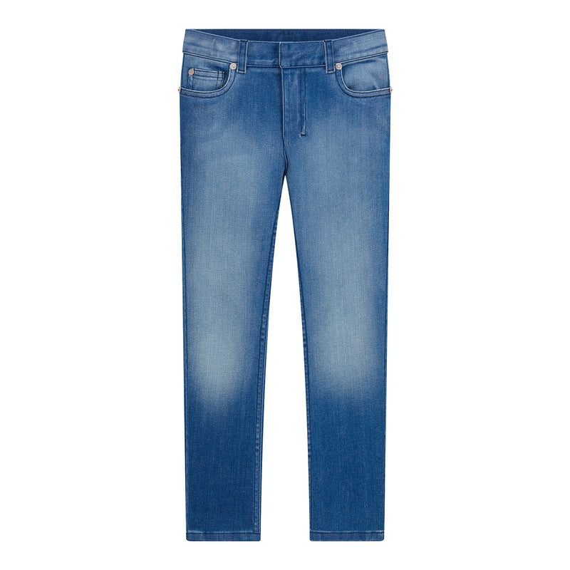 Stretch Cotton Denim Pants