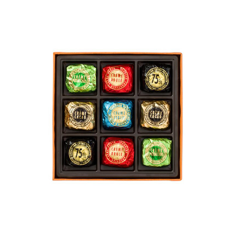 Assorted Cubotti Chocoviar Orange Square Box 186g