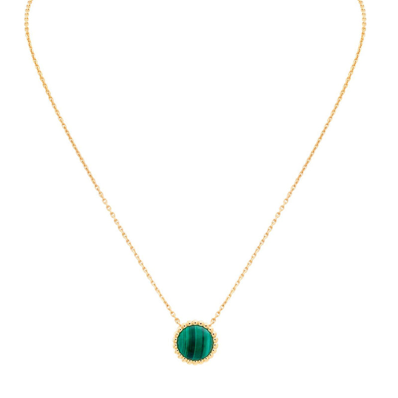 Perlée Couleurs Pendant, Yellow Gold, Malachite