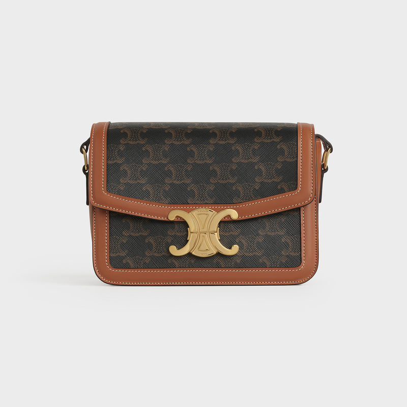 TEEN TRIOMPHE BAG IN TRIOMPHE CANVAS AND CALFSKIN