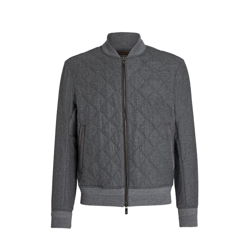 Grey Beuys Felt 14milmil14 Bomber Jacket