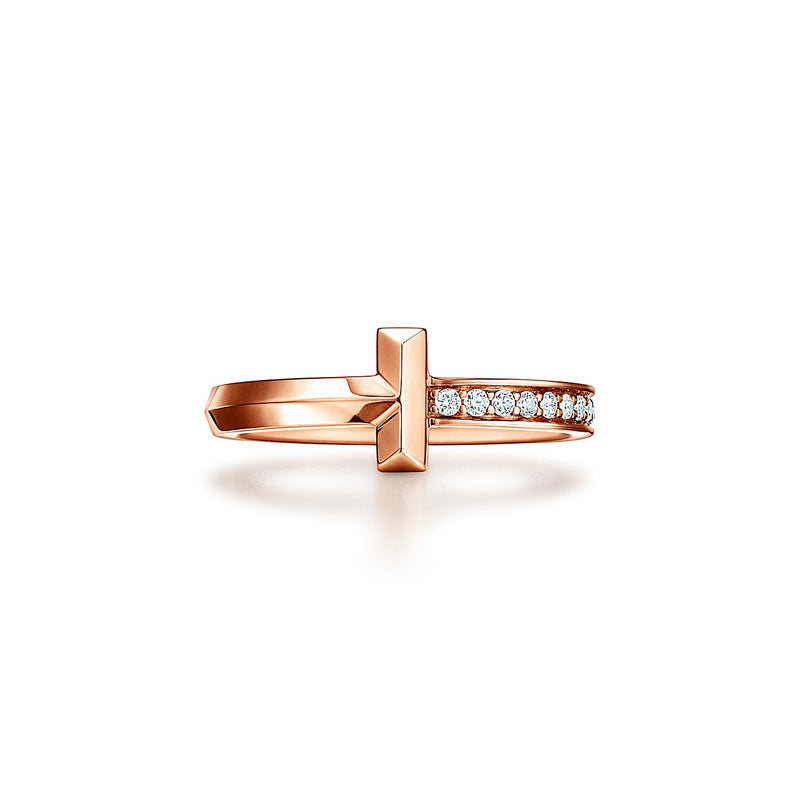 Tiffany T1 narrow diamond ring in 18k rose gold