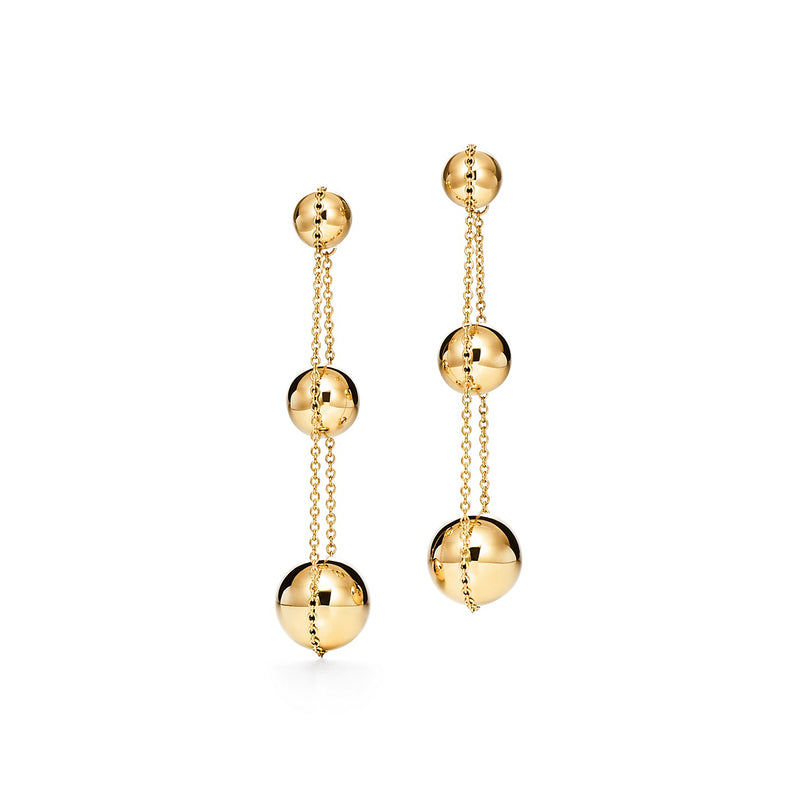 Tiffany HardWear triple drop earrings in 18k yellow gold