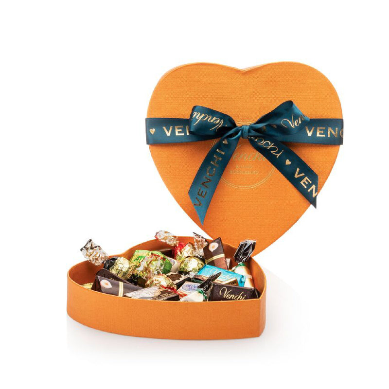 Assortment of 274g Chocolates Orange Heart Box