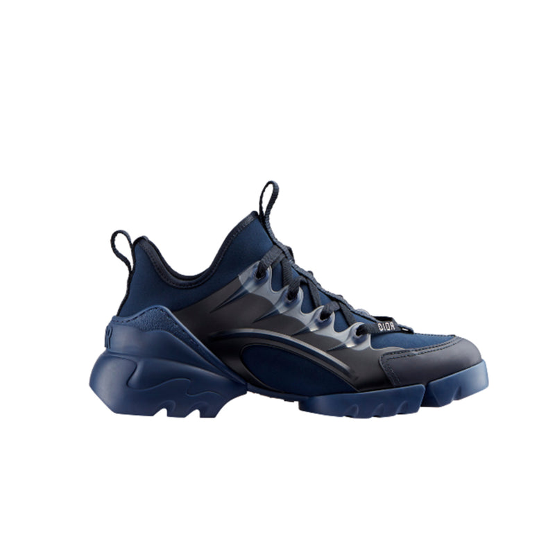 Sneaker in Indigo Blue Neoprene, Transparant Rubber Layer, Oversize Rubber Sole with Dior Signature