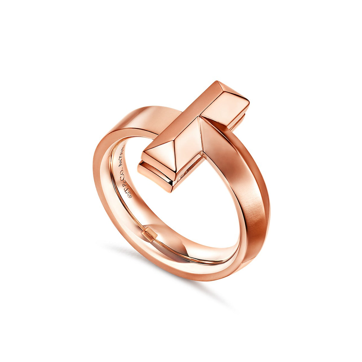 Tiffany T1 wide diamond ring in 18k rose gold
