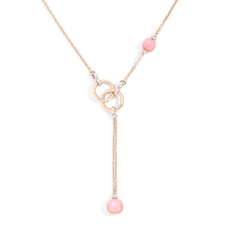 NUDO Pink Lariat in Rose Gold