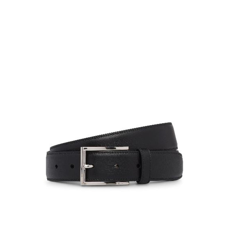 Elongated Buckle St James Leather Belt