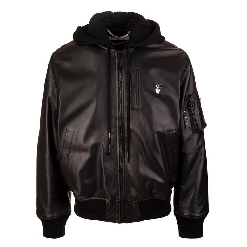 ARROW LEATHER BOMBER