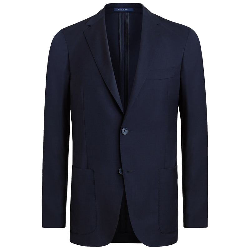 Navy Blue Wool Blend Aria Blazer