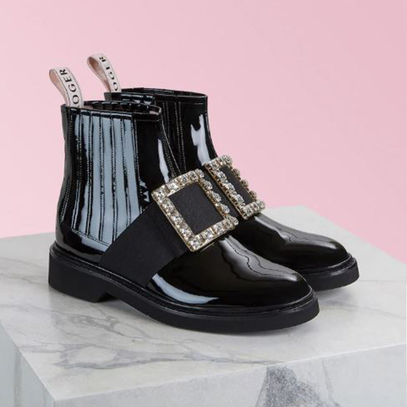 Chelsea Viv' Rangers Strass Buckle Ankle Boots