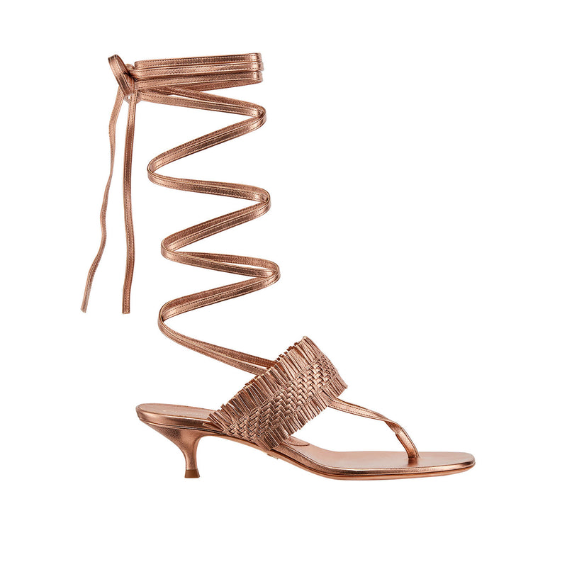 Dior Wave Lace Up Thing Sandal