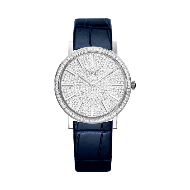 Altiplano watch, 35 mm. Case in 18K white gold set with 68 brilliant-cut diamonds (approx. 0.61 ct)