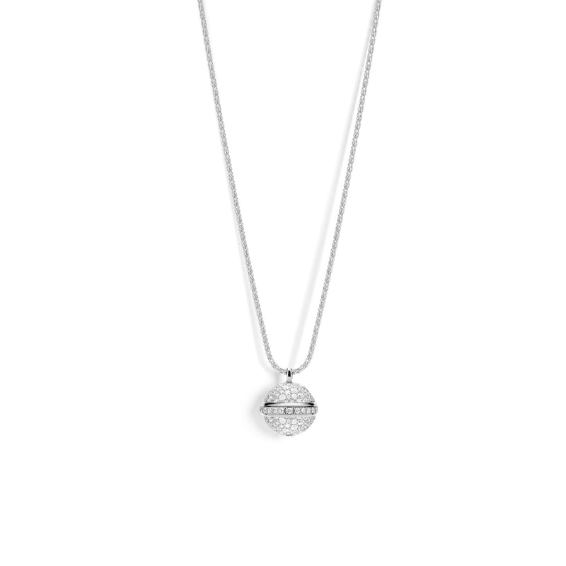 Possession pendant in 18K white gold set with 203 brilliant-cut diamonds (approx. 2.63 cts).