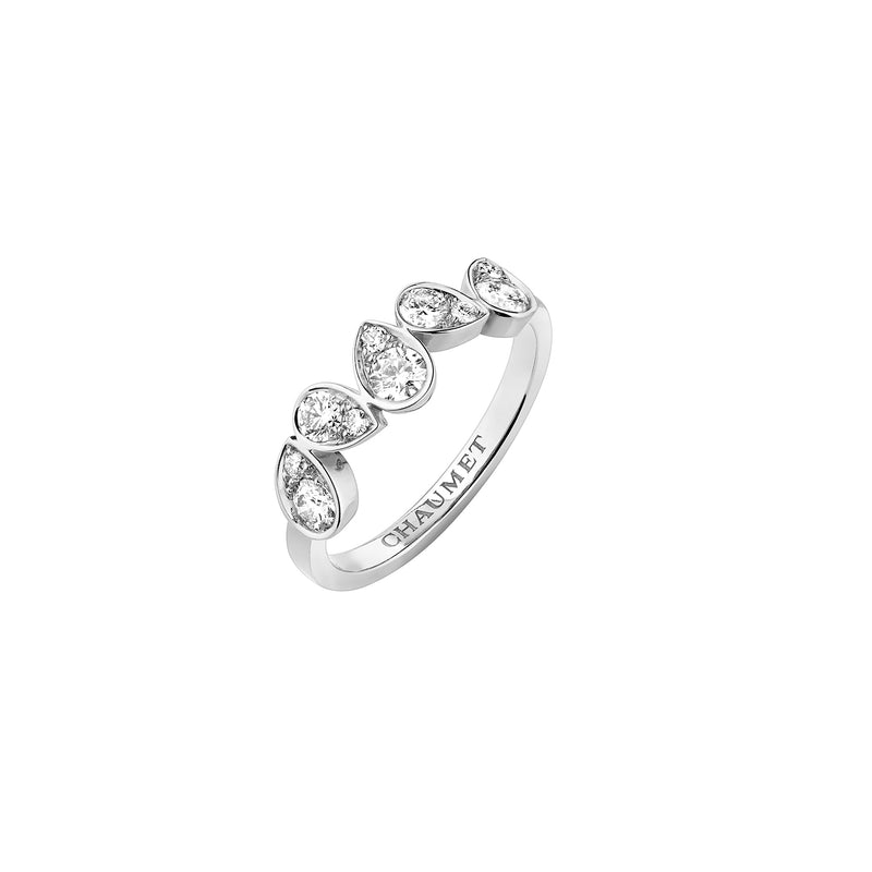 Joséphine Ronde d'Aigrettes Ring in White Gold