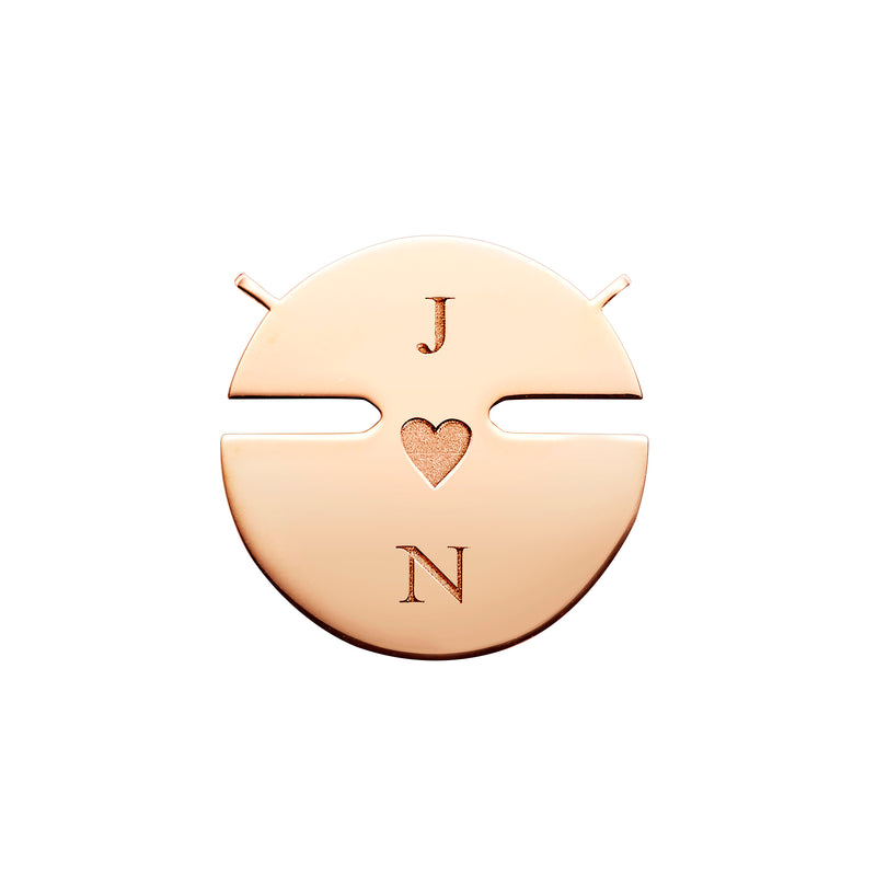 Jeux de Liens Harmony small model pendant in rose gold and mother-of-pearl, set with brilliant-cut diamonds