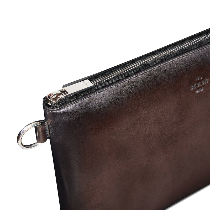 NINO GM Scritto Swipe Leather Clutch