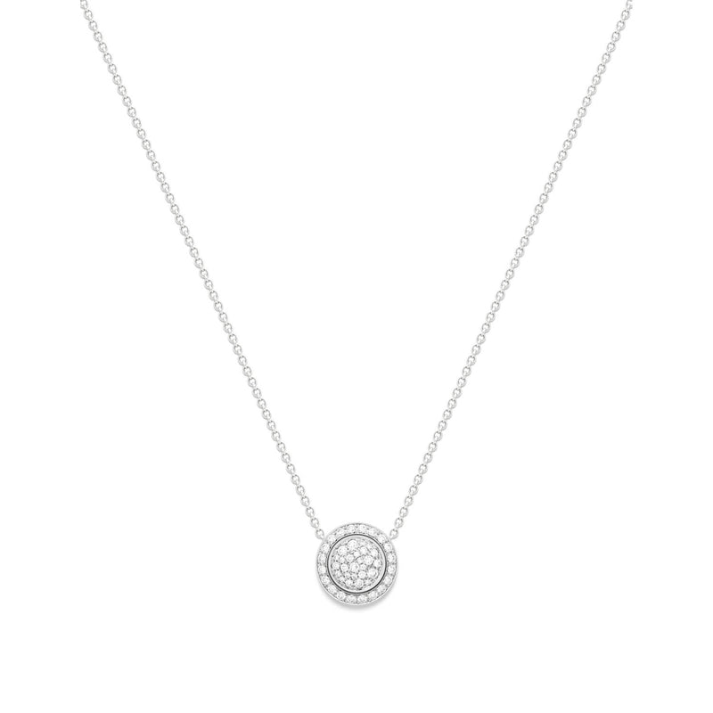 Possession pendant in 18K white gold set with 46 brilliant-cut diamonds (approx. 0.48 ct).