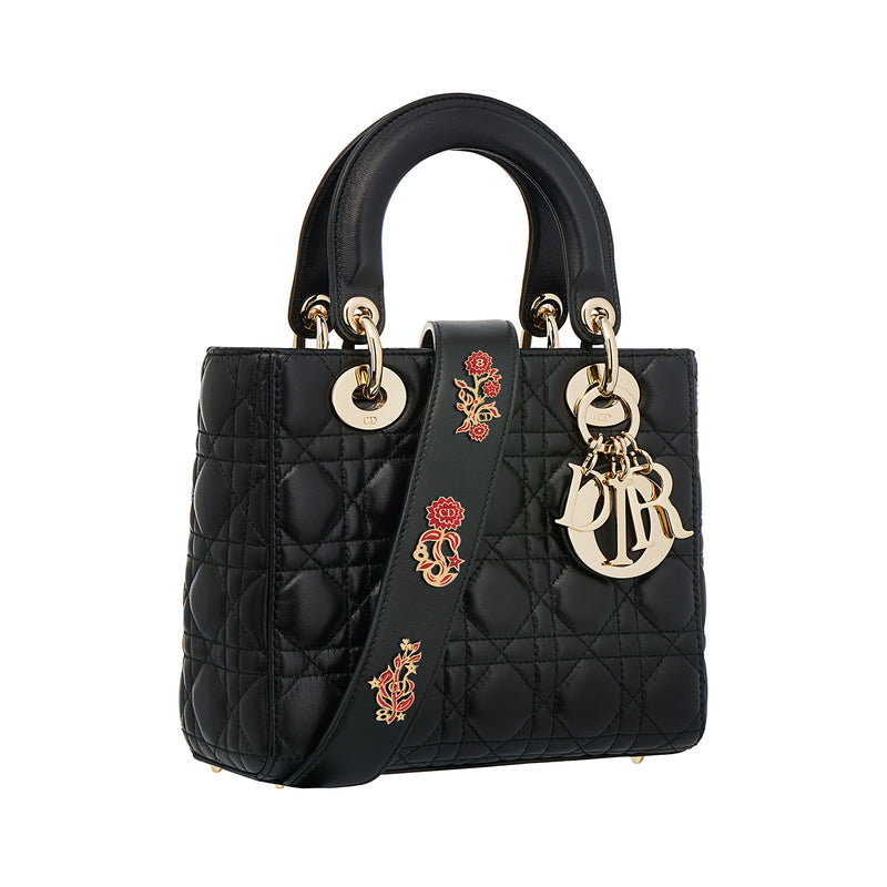 My Lady Dior Bag in Black Cannage Lambskin