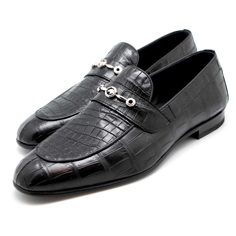 Crocodile Leather Loafers