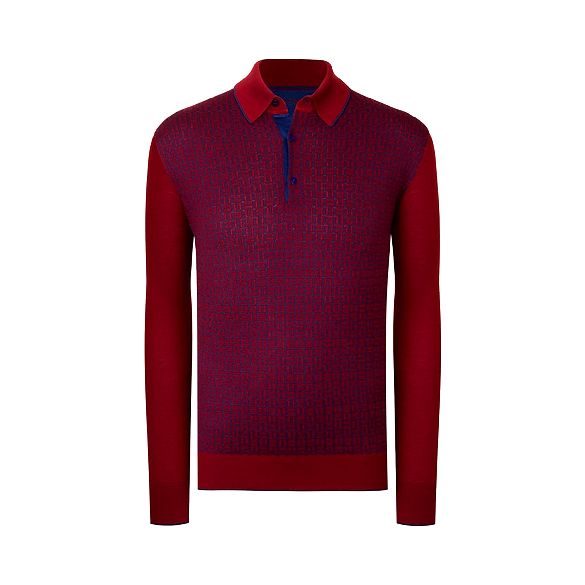 Long Sleeved Three Button Polo