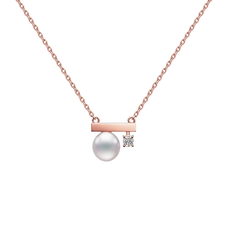 Petit Balance Class Necklace Sakura Gold