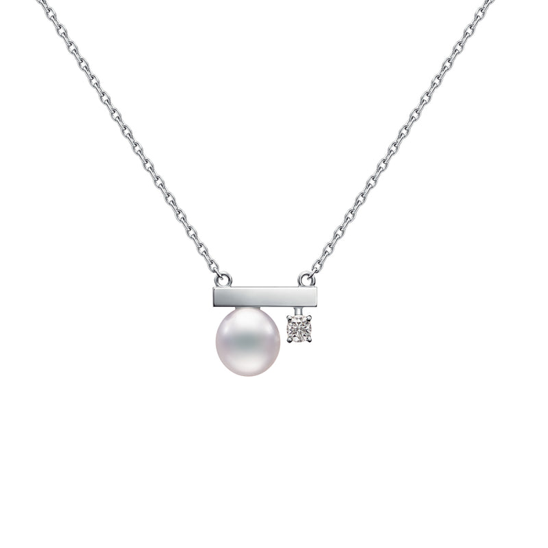 Petit Balance Class Necklace White Gold