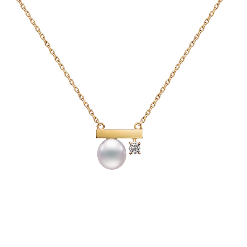Petit Balance Class Necklace Yellow  Gold