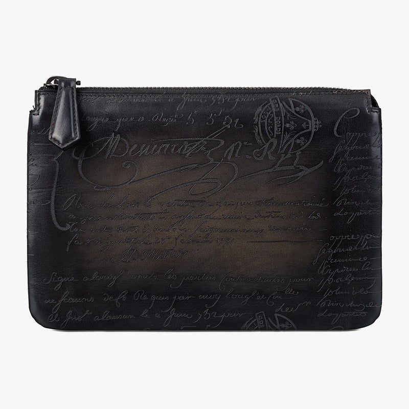 Tersio Clutch Scritto Leather All In One