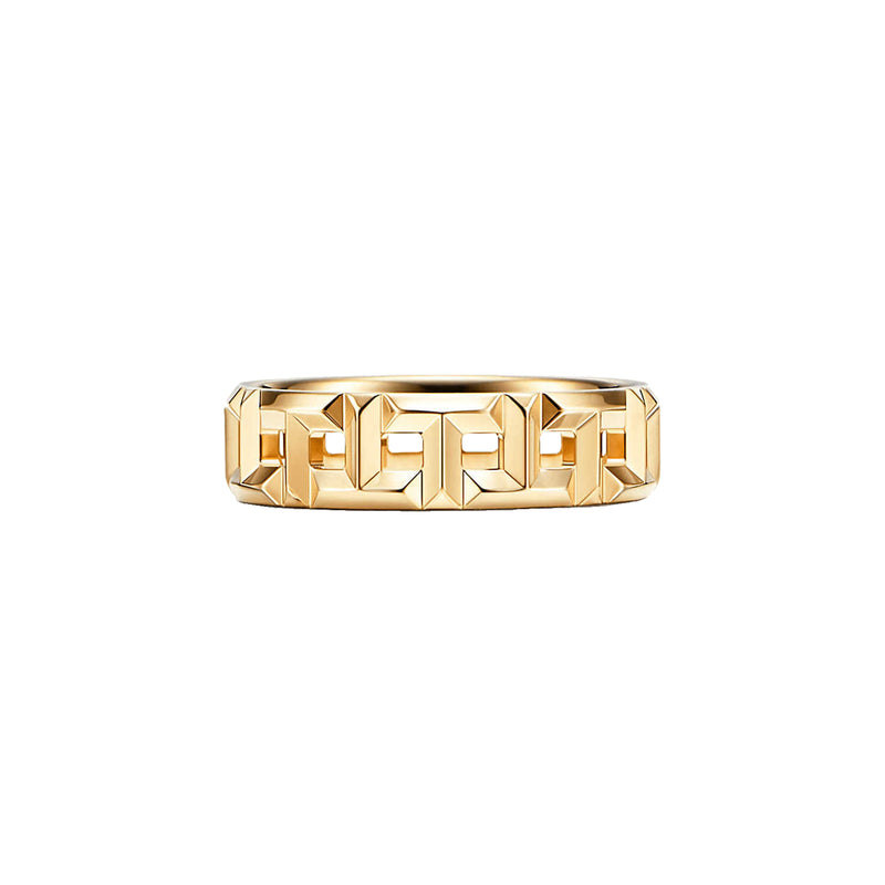 Tiffany T True Wide Ring in 18k Yellow Gold