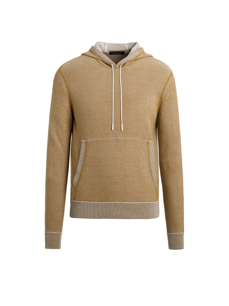 Cotton, Wool & Cashmere Knit Hoodie
