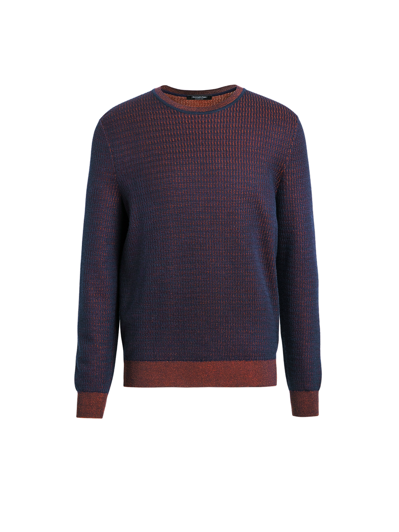 Cashmere & Silk Jacquard Sweater