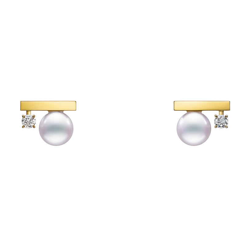 Petit Balance Class Earrings Yellow Gold
