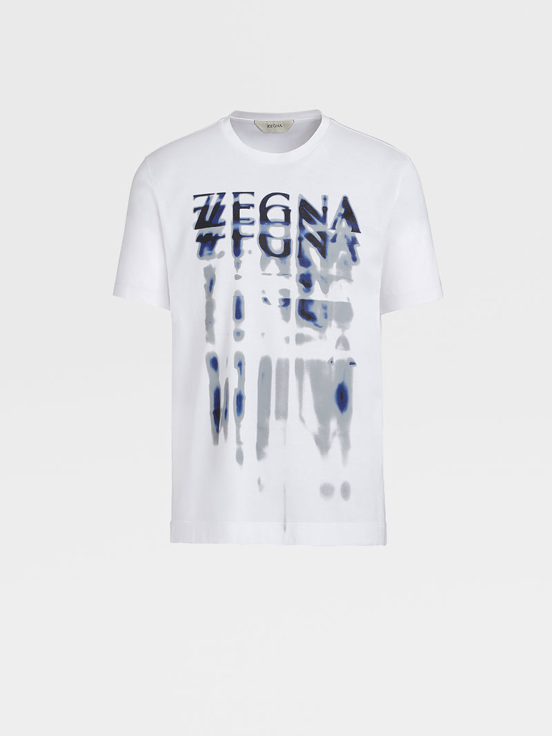 Z Zegna Logo Cotton T-Shirt