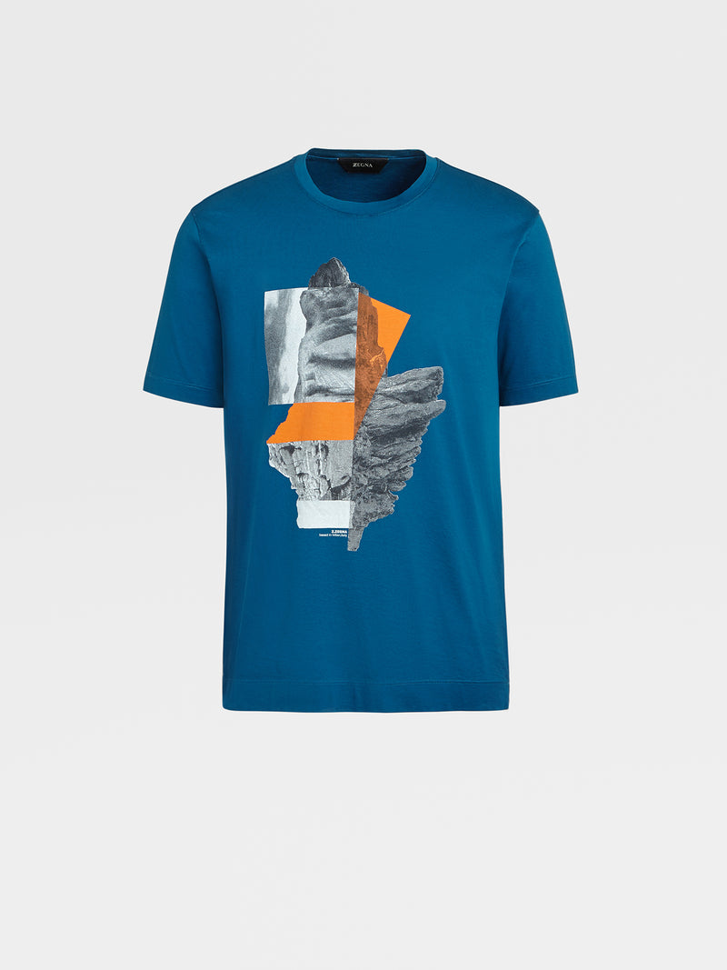 Z Zegna Landscape Cotton T-Shirt