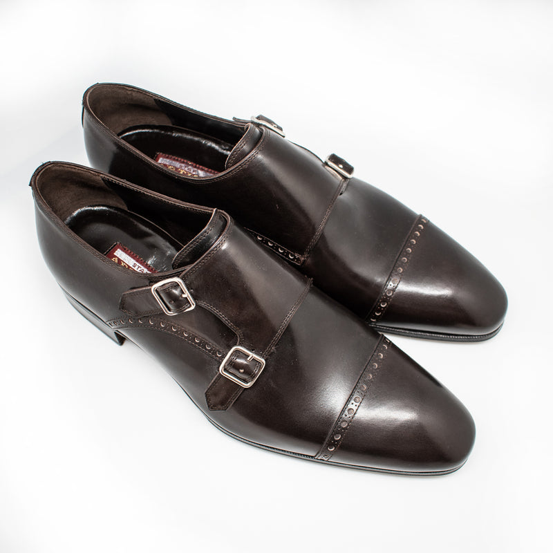 Artioli Double-Monk Calf Leather Shoes