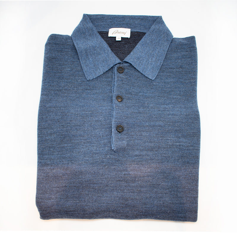 Brioni 3 Button Long Sleeve Polo Knitwear