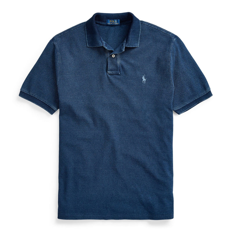 Indigo Mesh Polo Shirt