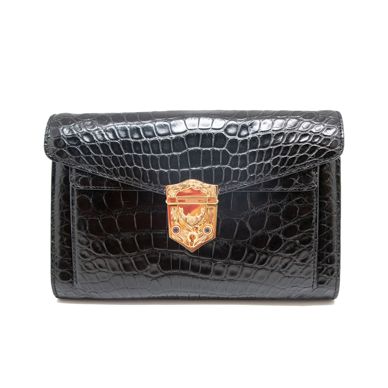 Black Tardini Clutch with Flap