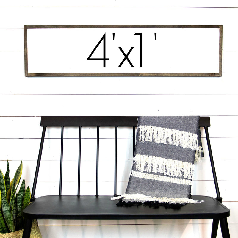 Design Your Own Sign-4'x1'