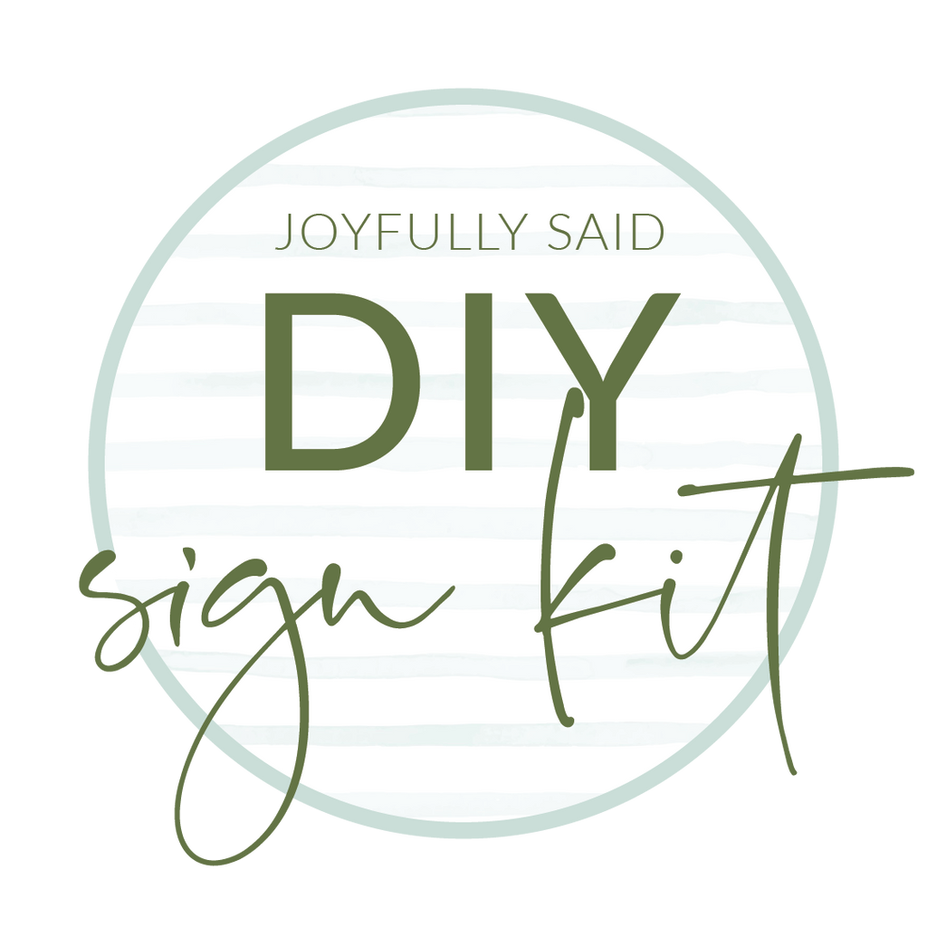 DIY Sign Kit (for Kids!)