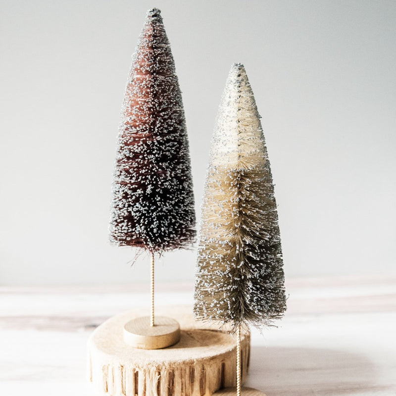 Bottle Brush Tree Set | Gingerbread Sparkle