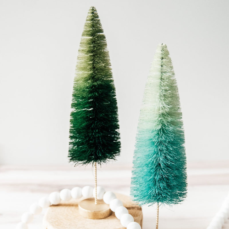 Bottle Brush Tree Set | Emerald Matte