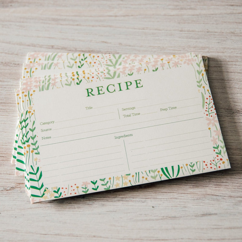 Garden Florals | Recipe Card Set