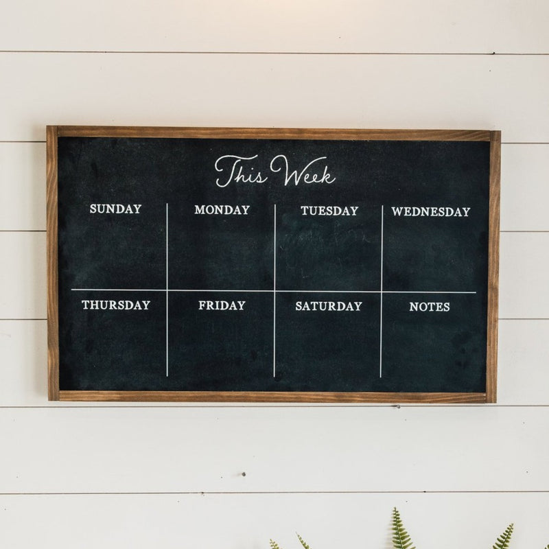 Weekly Chalkboard Sign
