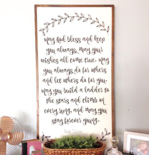Forever Young | 2'x4' wooden sign